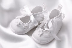White baby booties Stock Image