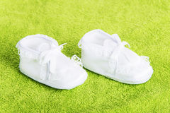 White baby boots Stock Photos