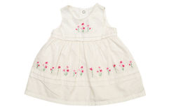 White baby dress Royalty Free Stock Photography