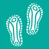 White Baby Imprint soles shoes Stock Photography