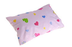 White baby pillow, small pillow for baby Stock Photo