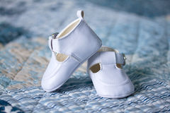White baby shoes Stock Image