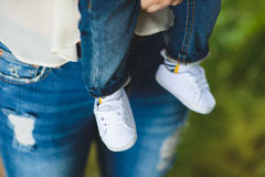 White Baby Shoes Royalty Free Stock Photo