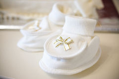 White Baby shoes Stock Images