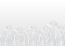 White background. With flowers  and copy space Stock Image