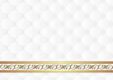 White background. With gold ornaments Stock Photos