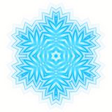 Abstract blue shape like a snowflake. White background with abstract blue shape like a snowflake Stock Image