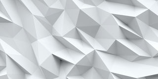 White background. Abstract triangle texture. Stock Photography