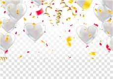 White background with white balloons, glossy balloons. Eps.10 stock illustration