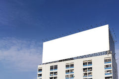 The white background  bill board building Stock Images