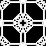 White background and black repeted dot pattern Stock Photos