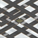 Multilevel crossroad sections with shadows Stock Images