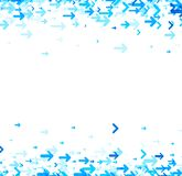 White background with blue arrows. White background with blue arrows pattern. Vector paper illustration Royalty Free Stock Photography