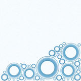 White Background with Blue Circles at Bottom. A white background image with blue circles at the bottom of it royalty free illustration
