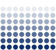 Blue circle with color transition. White background and blue circles with color transition stock illustration