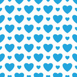 White background with blue hearts. Royalty Free Stock Photo