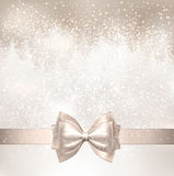 White background with bow. Royalty Free Stock Photography
