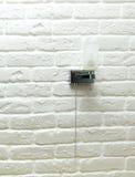 White background brick wall, corner,. Texture Royalty Free Stock Photos