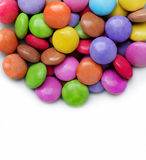 White background with bright color candy Stock Image