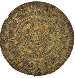 White background Calendar Maya Stone Royalty Free Stock Photos