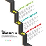 Road infographic background Royalty Free Stock Photo