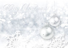 White background with Christmas balls Stock Image