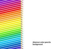 White background with color pencils Royalty Free Stock Photos