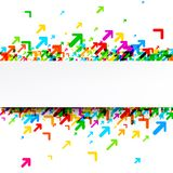 White background with colorful arrows. White background with colorful arrows pattern. Vector paper illustration Royalty Free Stock Photo