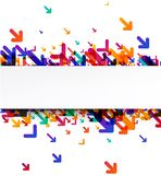 White background with colorful arrows. White background with colorful arrows pattern. Vector paper illustration Royalty Free Stock Photography