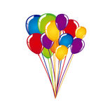 White background with colorful balloons. Illustration Royalty Free Stock Image