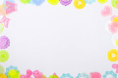 White background with colorful decoration Royalty Free Stock Image