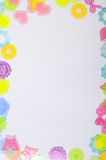 White background with colorful decoration Stock Photography