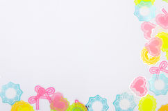 White background with colorful decoration Royalty Free Stock Photography