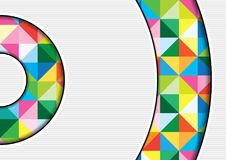 White Background with Colorful Squares. And Shadows in Geometric Abstract Illustration - Template for Visit Card, Brochure, Propagation and More, Vector Stock Image