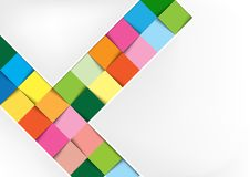 White Background with Colorful Squares Stock Photography