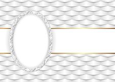 Background. White background with decorative frame Stock Images