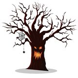 On a white background a drawing of a tree for halloween royalty free illustration