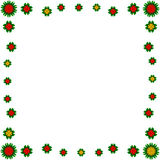 White background with flowered frame Royalty Free Stock Image