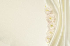 White background with flowers Royalty Free Stock Image
