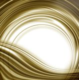 White background and gold circular edge Royalty Free Stock Photo