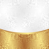 White background. White and gold background with ornaments Stock Photo