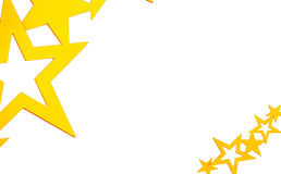 White background with gold stars. Of various sizes Stock Images