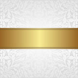 White background. White and gold  background - vector illustration Stock Photography