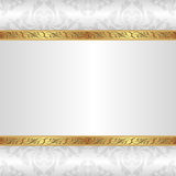 White background. With golden ornaments Stock Photos
