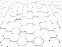 White background with hexagons pattern. Abstract white background with hexagons pattern Stock Photography
