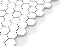 White background with hexagons and place Stock Image