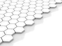 White background with hexagons and place Royalty Free Stock Images