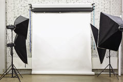 White background inside studio Stock Image