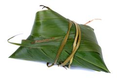 Glutinous rice, zongzi, traditional Chinese food royalty free stock image