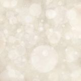 White Background Lights, Bokeh Circle Shapes Layered Like Falling Snow In Sky, Bubble Background Design Stock Image